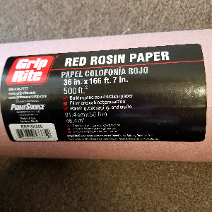 Red Rosin Paper